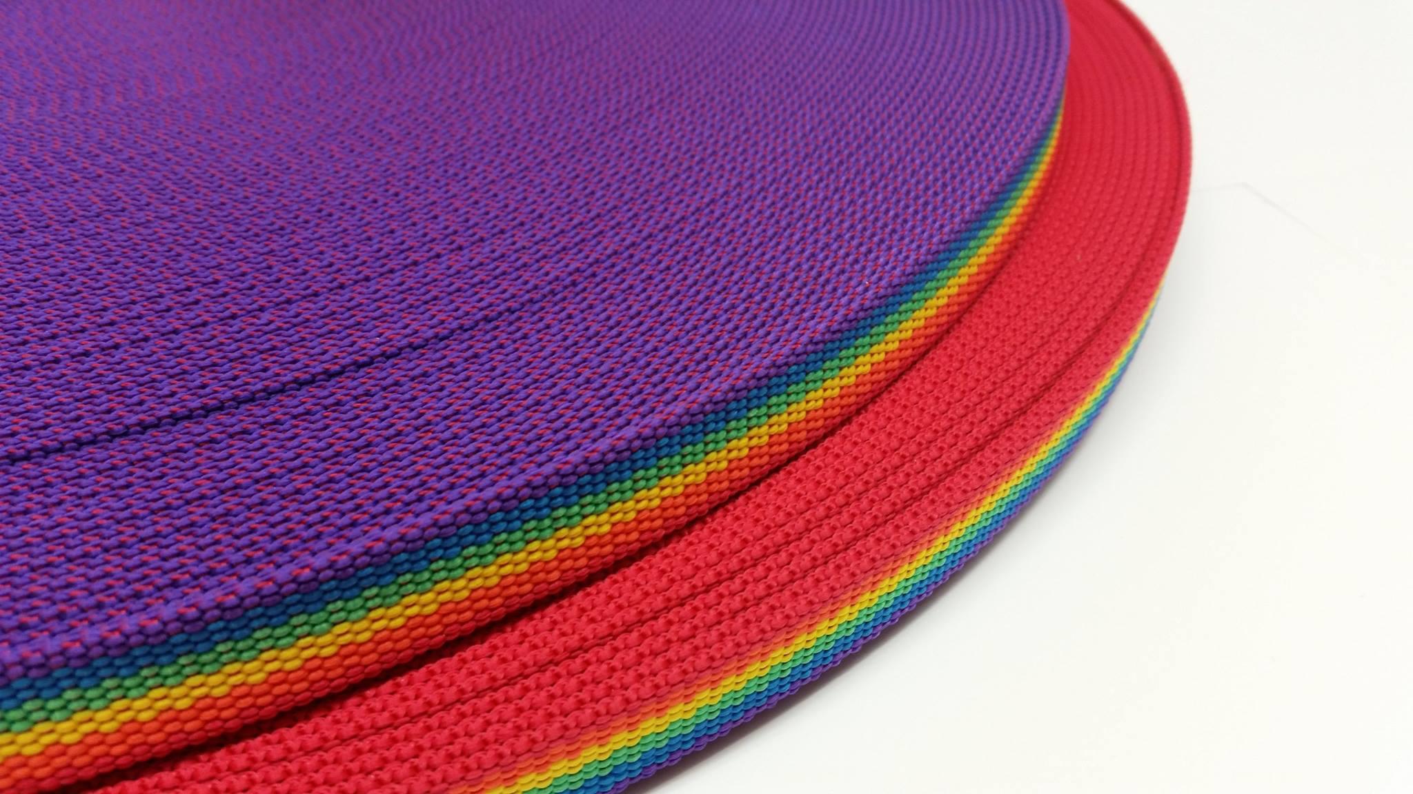PP-Gurtband Regenbogendesign