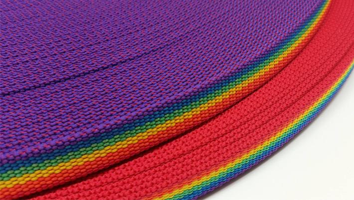 PP-Gurtband Regenbogen-Design